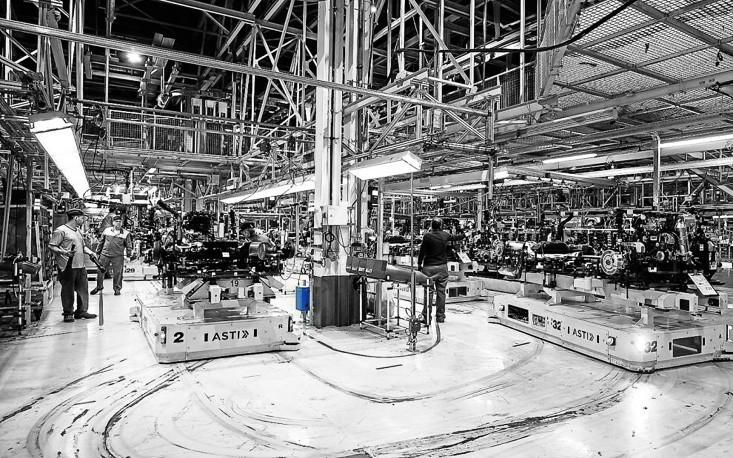 ASTI Automobile Produktion - induktives aufladen