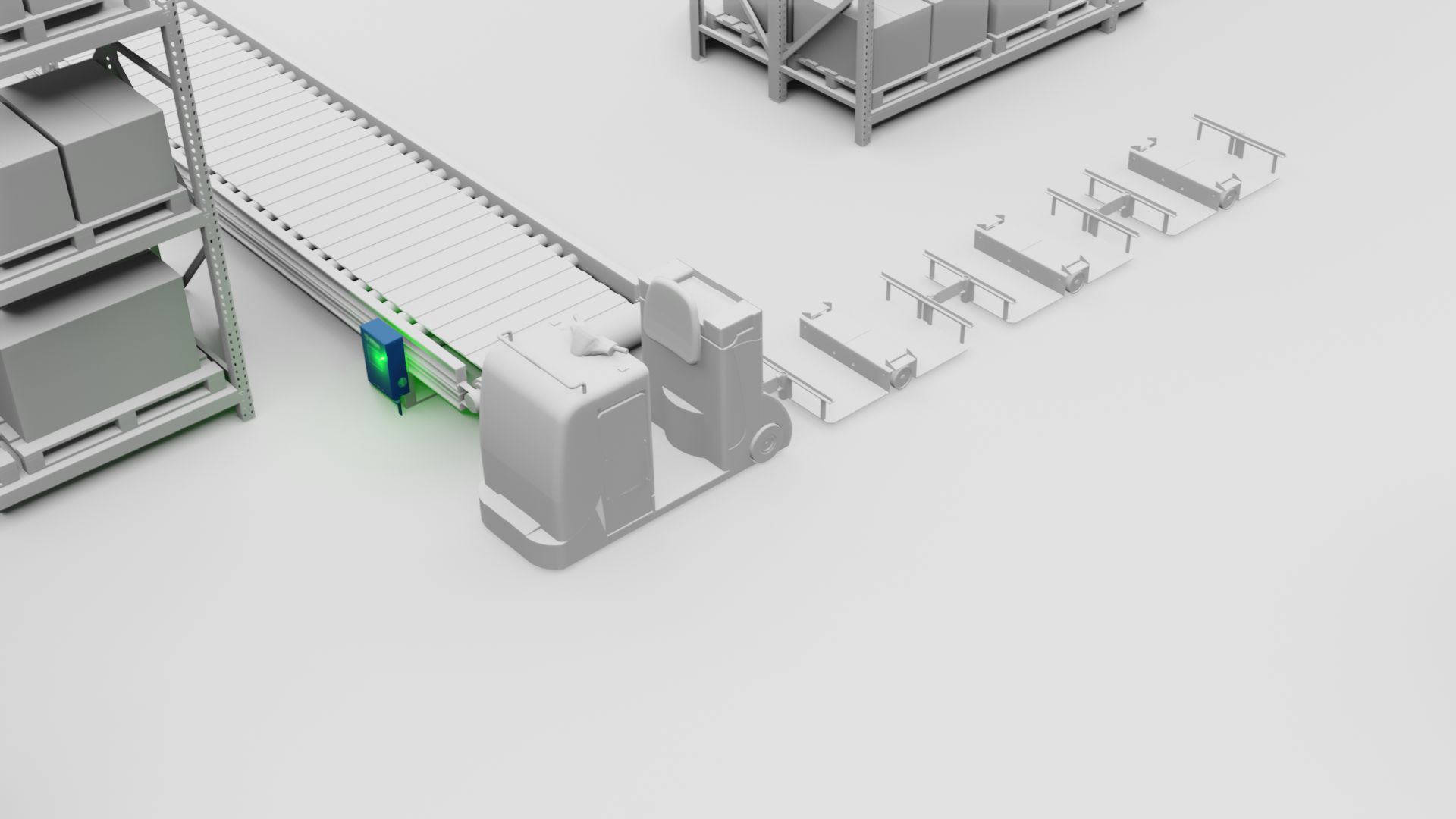 automatisierte routenzüge - automated tugger trains - industrial trucks