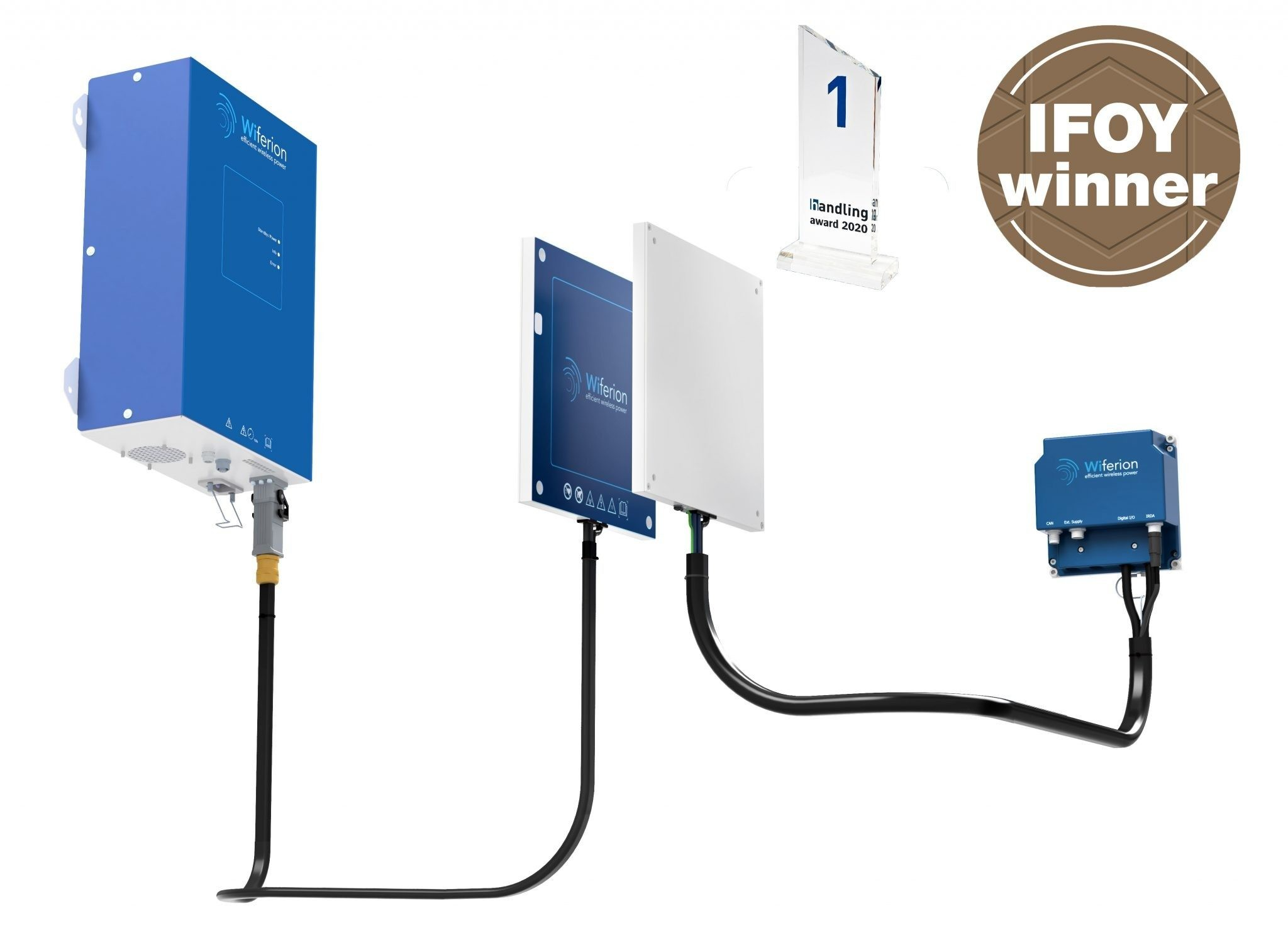 etaLINK 3000 - industrial wireless power - industrielles induktives laden - industrial wireless charging - ifoy winner - handling award winner