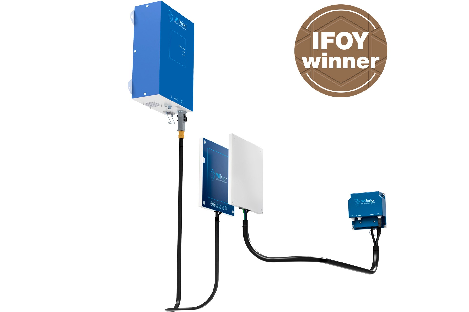 etaLINK 3000 - industrial wireless power - industrielles induktives laden - wireless charging agv - ifoy winner