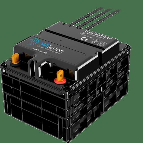 induktiv laden - lithium ion batterie akku für stapler - flurförderzeug - fahrerlose transportsysteme - stapler laden - lithium battery lto - agv