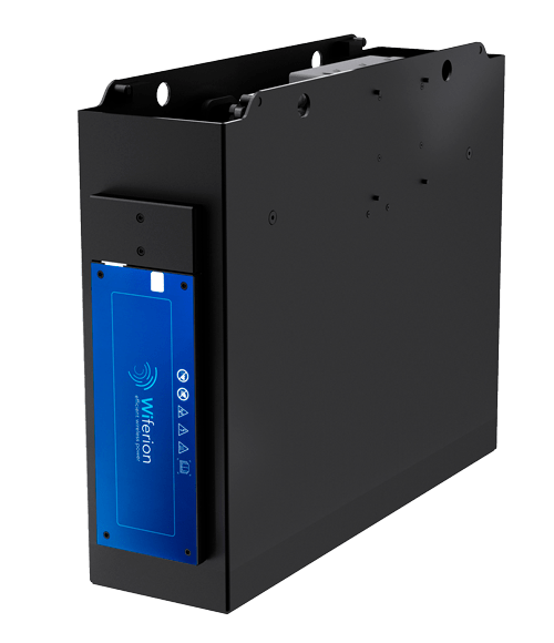 etaTRAY 3000r - small lithium tray for forklifts, industrial trucks and tugger trains - inductive charging - wireless charging - ladesystem - staplerbatterie - stapler laden - 48 volt batterie laden