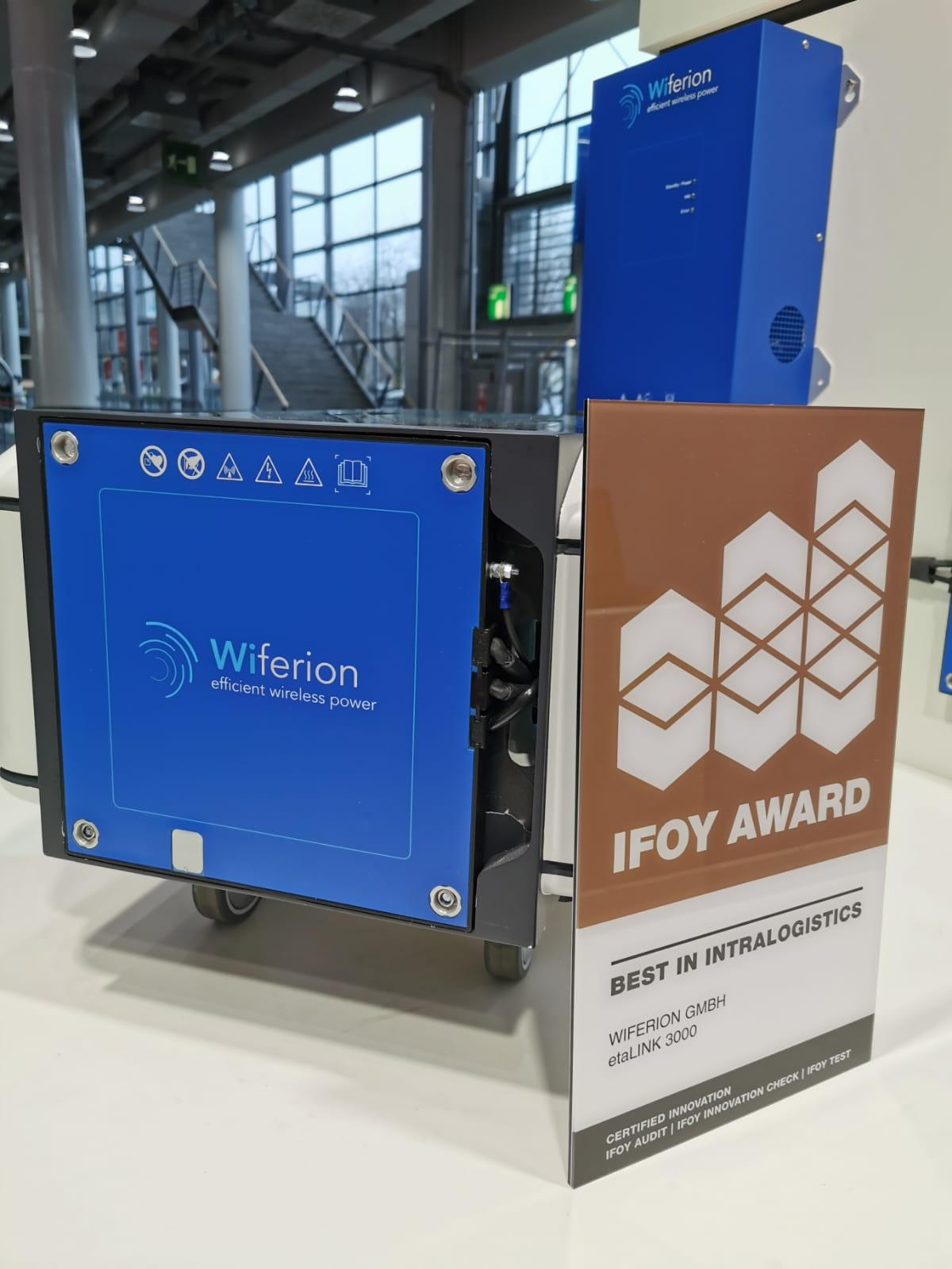 IFOY Award 2020 - Wiferion Wireless Charging AGV System - Kabelloses Ladesystem