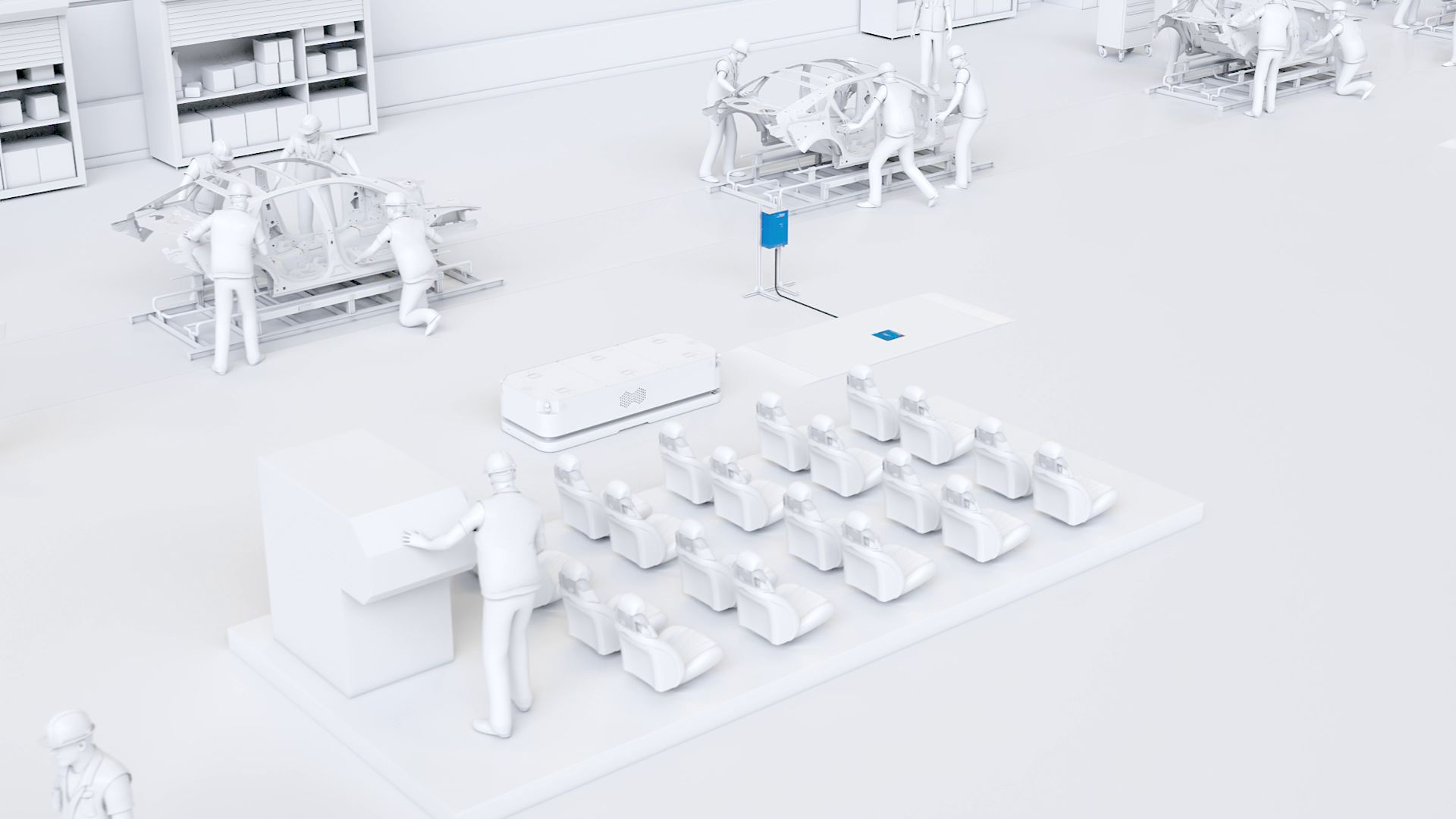 induktives laden fts in der produktion - wireless charging amr in the production