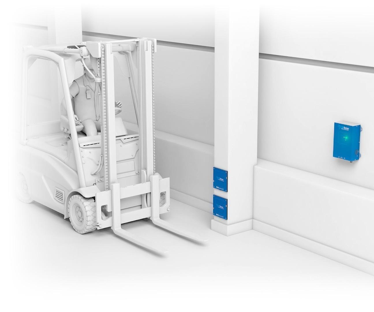 installation vertikal - wireless charging forklift installation