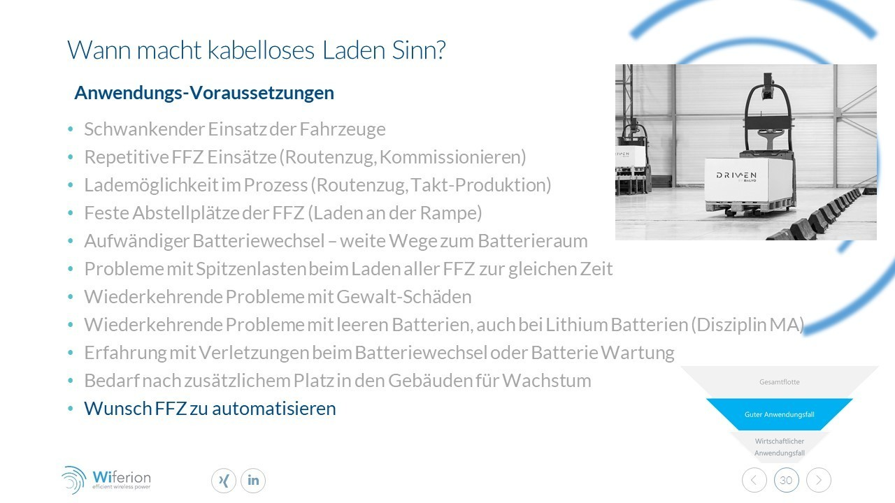 Wann macht kabelloses Laden sinn? - when does wireless charging make sense?