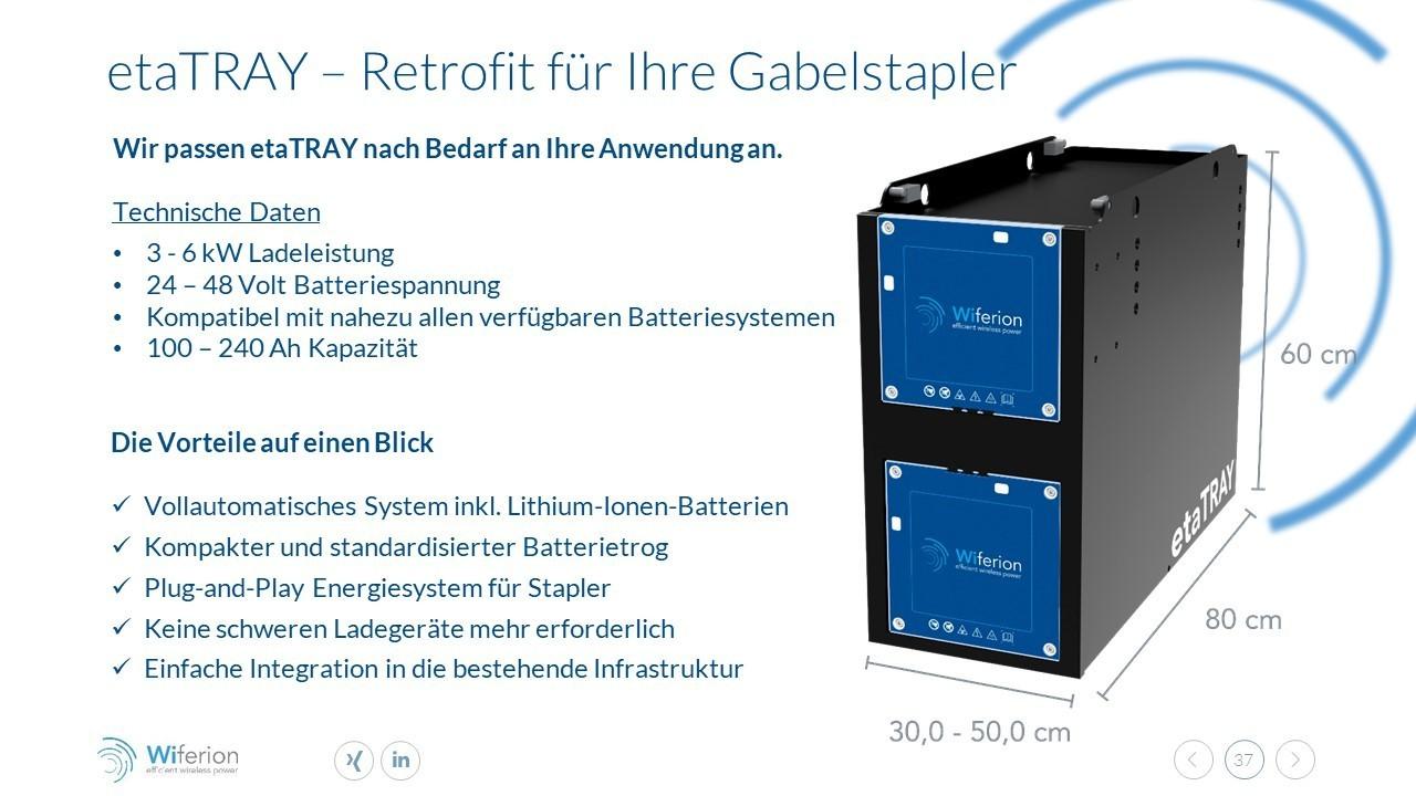 Retrofit für Ihre Gabelstapler - Retroft for your Forklift for wireless charging - higher availability