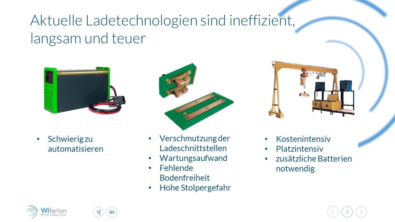 Aktuelle Ladetechnologien sind ineffzient - mindern Verfügbarkeit - reduced availability with today chargers