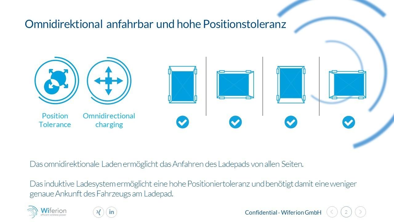 Omnidirektional anfahrbar und hohe Positionstoleranz