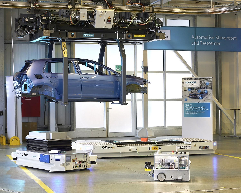 wireless charging siemens automotive testcenter agv
