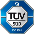 Wiferion ist ISO 9001 Zertifiziert - TÜV SÜD - iso 9001 certified