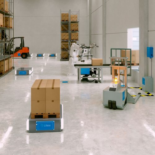 e-commerce and warehouse with wireless charging - wireless charging benefits - induktives laden vorteile