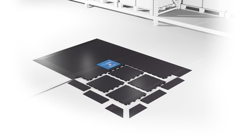 wireless charging ground installation - etaTILES single - boden Installation induktives laden